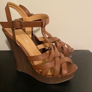 Charming Charlie's brown wedges